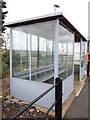 TL6484 : Shelter at Shippea Railway Station by Adrian Cable