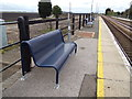 TL6484 : Seat at Shippea Hill Railway Station by Adrian Cable