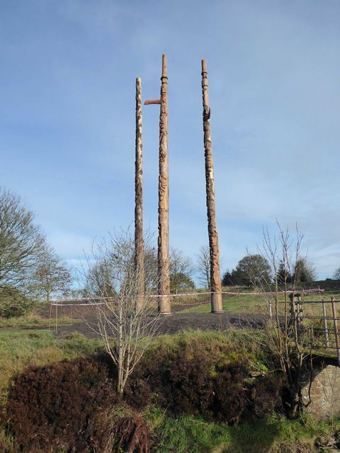 New totem poles in position