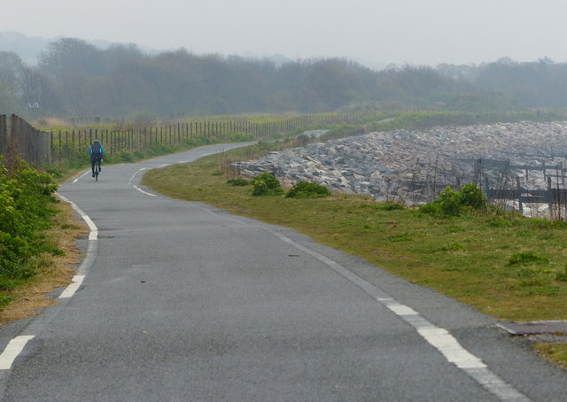 Wales Coast Path and National Cycle Route 5