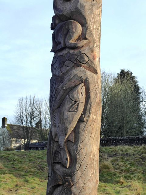 One of the new totem poles (detail)