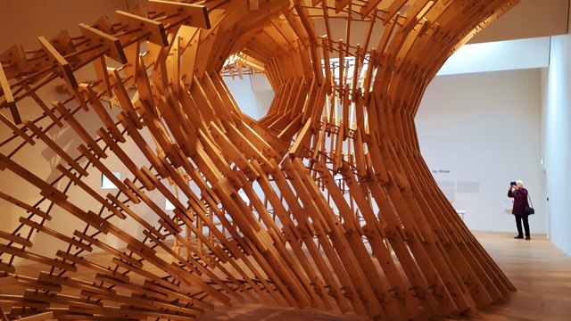 """Up-Sticks"" sculpture at the V&A, Dundee"