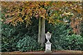 TG1828 : Blickling Park: Ornamental urn at the end of the Temple Walk by Michael Garlick