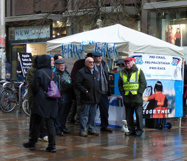 Glasgow Friends of Israel stall on Buchanan Street