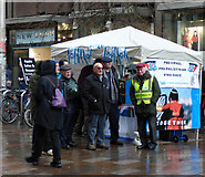 NS5965 : Glasgow Friends of Israel stall on Buchanan Street by Thomas Nugent