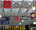 NS5865 : Glasgow Central railway station poppies by Thomas Nugent
