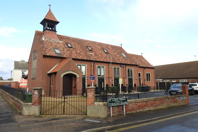 St. Luke's church has been converted into houses