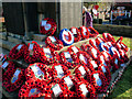 SD7807 : Remembrance Tributes at Radcliffe Cenotaph by David Dixon