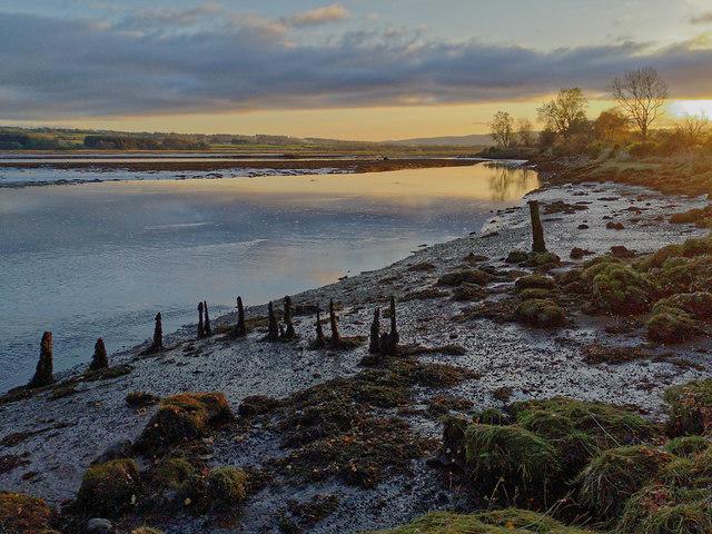 The bank of the River Conon