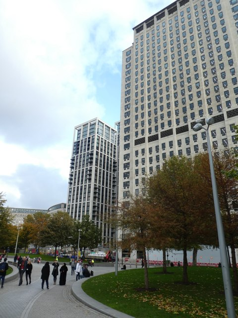 Jubilee Gardens and tower blocks, near Waterloo Station