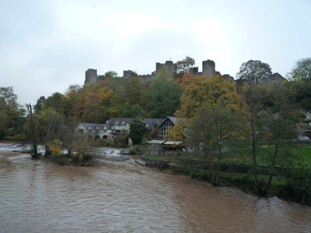 Ludlow Castle and the River Teme (Ludlow)