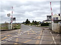 TL6484 : Level Crossing at Shippea Hill Railway Station by Adrian Cable