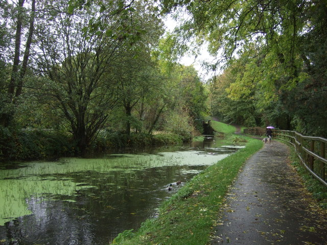 National Cycle Route 49 beside the Monmouthshire and Brecon Canal