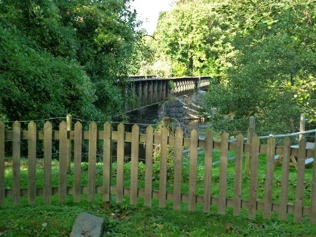 Disused railway bridge from the Devon Railway Centre