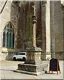 SP0202 : Medieval High Cross, West Market Place, Cirencester by JThomas