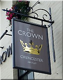 SP0202 : Sign for the Crown public house, Cirencester by JThomas
