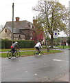 SO8005 : Two Sunday cyclists in Stonehouse by Jaggery