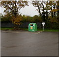 SO8005 : Full recycling bin in High Street Car Park, Stonehouse by Jaggery