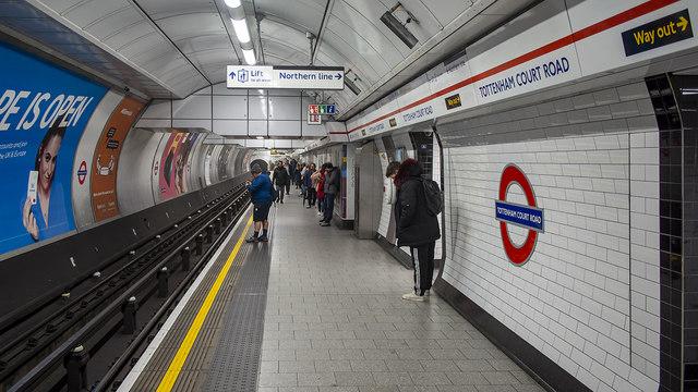 Platform, Tottenham Court Road Underground Station