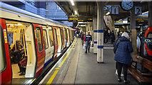 TQ1979 : Platform, Acton Town Underground Station by Rossographer