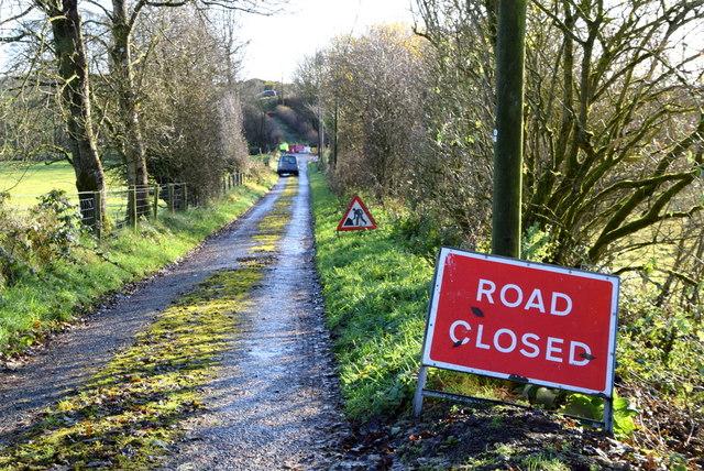 Road closed, Bancran