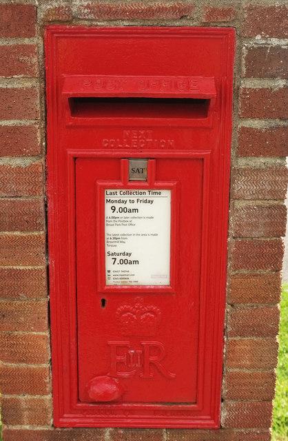 Postbox, Manscombe Road
