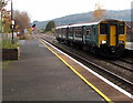 SO4382 : Manchester Piccadilly train arriving at Craven Arms station by Jaggery