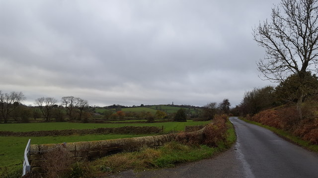 Minor country road near Crich
