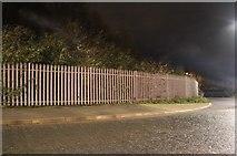 TL2371 : Fence by Edison Bell Way, Huntingdon by David Howard
