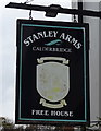 NY0405 : Sign for the Stanley Arms, Calder Bridge by JThomas