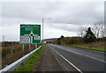 NY0109 : A595 approaching St Thomas' Cross Roundabout, Egremont by JThomas