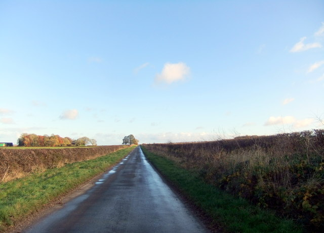 Minor road towards Holme on the Wolds