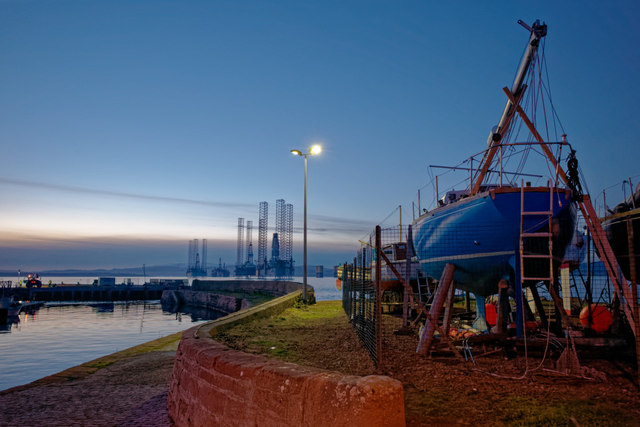 Pier and boatyard at Cromarty