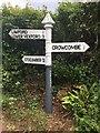 ST1336 : SCC Fingerpost on Stogumber Hill at the junction of Heddon Wood Lane by Marika Reinholds