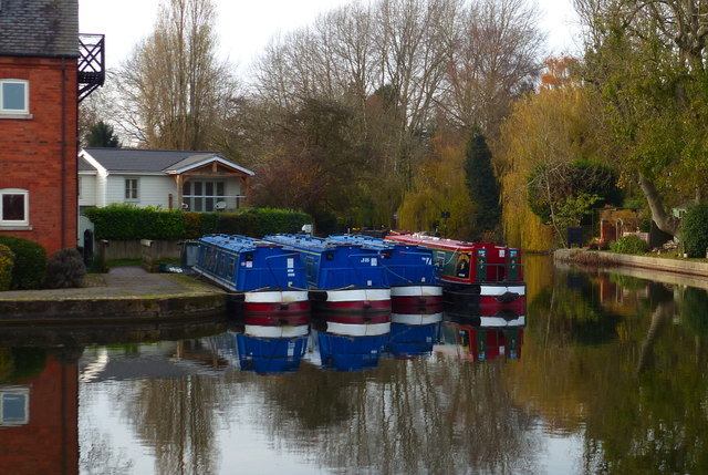 Narrowboats at Union Wharf, Market Harborough