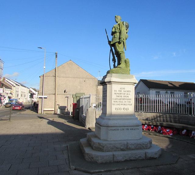 Grade II Listed War Memorial, Priory Street, Carmarthen