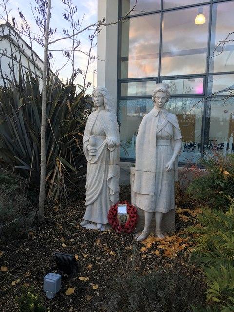 Nursing statues at Robert Jones and Agnes Hunt Hospital