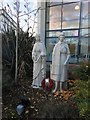 SJ3032 : Nursing statues at Robert Jones and Agnes Hunt Hospital by Richard Hoare