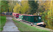 SP7287 : Narrowboats moored along the canal by Mat Fascione
