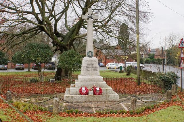 War memorial in Enville