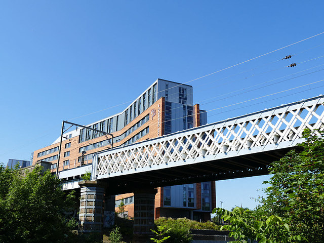 Railway bridge over the river Kelvin