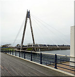 SD3317 : Marine Way Bridge seen from The Pier, Southport by habiloid