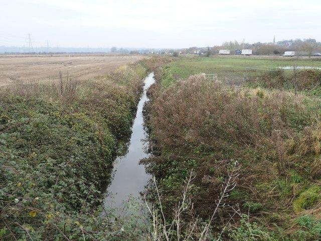 Drained farmland, Frodsham Marsh