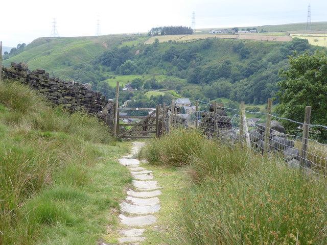 The Pennine Bridleway Mary Towneley loop near South Hollingworth Farm