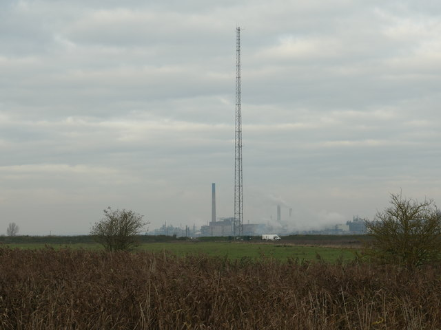 Mast on Frodsham Marsh
