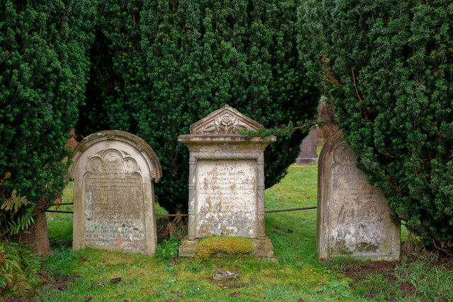 Gravestones in Kilmorack Burial Ground