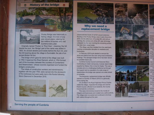 Pooley Bridge information board