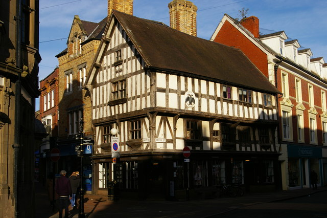 Oswestry: Llwyd Mansion, corner of Cross Street and Bailey Street