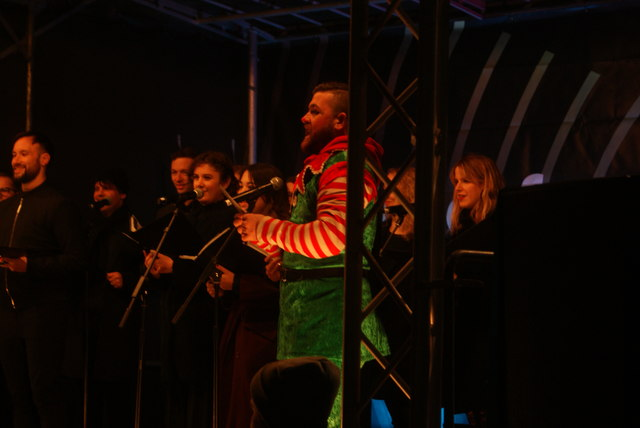 View of the London Community Choir performing at the Wembley Winterfest launch event #2