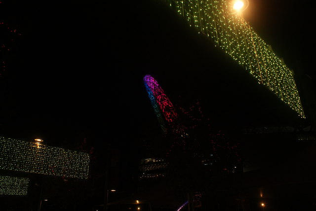 View of Murmuration of Hopes and the Wembley Stadium Arch at Wembley Winterfest #2